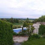 uitzicht vanuit de tuin