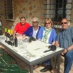Enjoying wine at Casa Emma