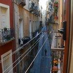 Vue depuis la fenêtre de la chambre sur la via Alberto Lamarmora