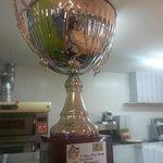 Trofeo 1 clasificado campeonado italiano de pizza 2005