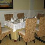 """table du resto """"el pescado"""""""
