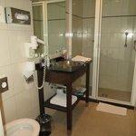 Small, minimalist bathroom