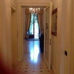 couloir des chambres, reception, jardin
