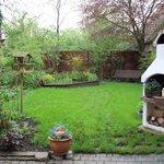 Lovely garden behind Gastehaus Flemming