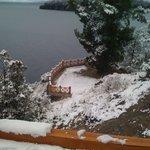 Mirador del Hotel con nieve