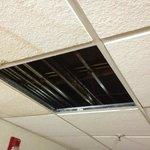 Missing ceiling tiles