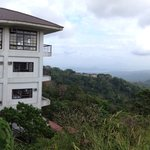the hotel was built on a cliff overlook majestic views of Taal volcano and lake and the verdant