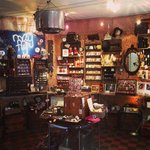 as you enter- a treasure trove of handmade curiosities and accoutrements many made in house by a