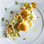 Scallops with Curried Granola