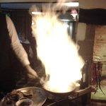 Flambee Steak