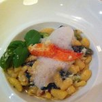 Lobster Cavatelli with foie gras, cream, morel mushrooms, spinach, asparagus and parmesan cheese