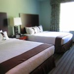 Queen beds in suite
