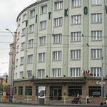 Vooraanzicht Hotel Vitkov