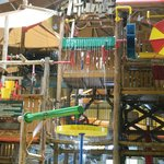 3 story treehouse play area in waterpark