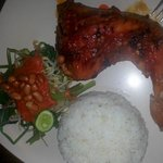 Ayam Bakar (grilled chicken with sweet sauce)
