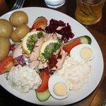 très bonne salade au saumon fumé