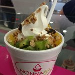 Frozen Yogurt, with unlimited toppings