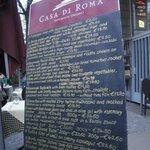 menu at casa di roma on lange reihe