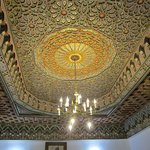 beautiful and detailed ceiling in the main dining room