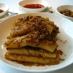 Fried Ricesheet Roll w/ XO Sauce is very tasty and generous in portion.
