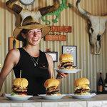 Our huge Kimberley Beef Burgers