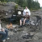 Can't beat a campfire on the rocks by the lake