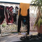 Drying the surfing and climbing equipment
