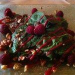 Raspberry/Spinach salad