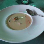 The Lobster Bisque is rich and creamy.