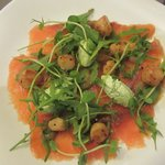 salmon and queen scallops