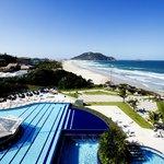 Vista aérea alto da piscina do Hotel Internacional