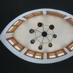 magnifique plafond en formle d'oeil
