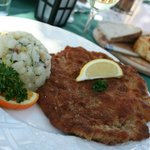 Wiener  Schnitzel with German potato salad