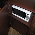 Microwave in the TV console, too