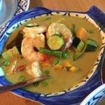 Grünes Curry mit Garnelen