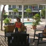 Area de Relax cerca de la piscina