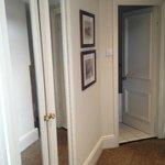 Hallway from room to bathroom