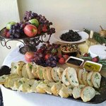 wine tasting appetizers on the patio
