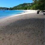 The beach below the Sweet Retreat