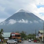 Volcan Arenal from Hotel San Bosco, check out the clouds on the summit