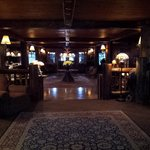 Whiteface Lodge lobby; old world charm