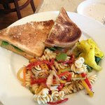 Their version of a BLT with pasta salad (lunch menu)