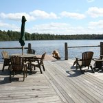 Dock at new boathouse