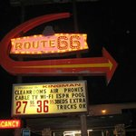 Night neon at the Route 66 Motel, Kingman