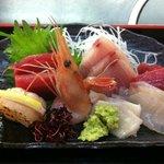 Niku no Yamamoto Sashimi Lunch Closeup