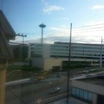space needle from room (not great but I've seen worse views from hotel rooms)