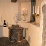Wine cellar with fireplace