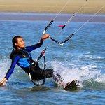 Me kite boarding in Nelson