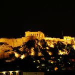 Acropolis at night taken from the Hotel roof top