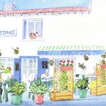 Local artist Angela Berry's water colour of Edna's Bar & Restaurant